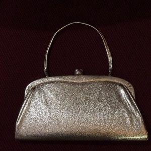 Handbags - Gold Vintage pearl clasp evening purse